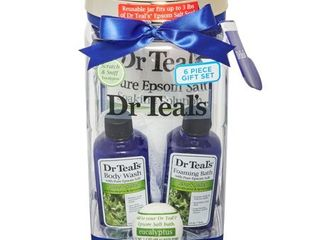 Dr Teal s 5 Piece Relax Bath Gift Set with Eucalyptus and Spearmint