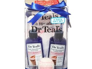 Dr Teal s 5 Piece Restore and Replenish Bath Gift Set with Pink Himalayan Salt