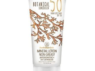 EXP  04 19 Australian Gold Botanical Mineral Sunscreen Broad Spectrum SPF 50   lOTION