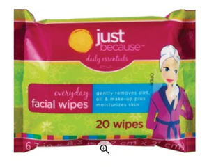 Just Because Facial Wipes 20 wipes