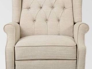 Walter Contemporary Tufted Fabric Recliner 1 only
