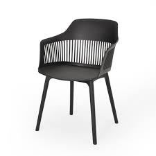Dahlia Outdoor Modern Dining Chairs set of 2 black