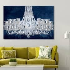 Oliver Gal  Royal Gala Night Silver  Fashion and Glam Wall Art Canvas Print   Gray  Blue  Retail 229 49