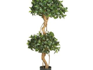 Sweet Bay 4 foot Double Ball Topiary Silk Tree   Retail 93 00