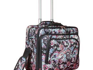 World Traveler Paisley Collection Rolling 17 inch laptop Business Case  Retail 77 98