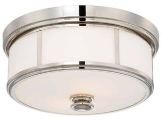 Harbour Point Polished Nickel 2 light Flush Mountby Minka lavery  Retail 127 99