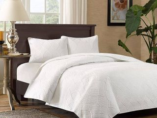 Madison Park Adelle Quilted 3 piece Coverlet Set