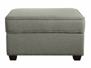 Olin Upholstered Ottoman with Storage Stone Gray   Serta