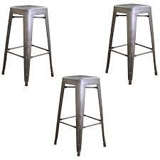Carbon loft Tolliver Gunmetal 30 inch Metal Bar Stool  Set of 3  Retail 153 99