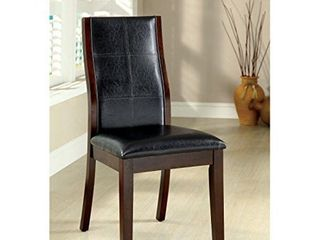 Furniture of America Tornillo Faux leather Brown Cherry Dining Chairs  Set of 2  Retail 239 49