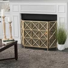 Margaret 3 Panel Fireplace Screen by Christopher Knight Home   Retail 111 00 gold