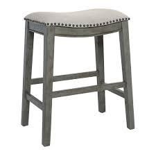 The Gray Barn Arbakka Grey 24 inch Saddle Bar Stools  Set of 2  Retail 145 49 grey
