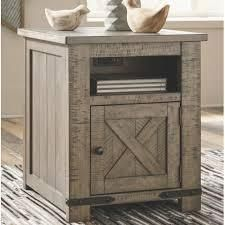 The Gray Barn Old Barney Casual Rectangular Grey End Table  Retail 266 99