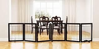 PAWlAND 144 inch Extra Wide 30 inches Tall Dog gate with Door Walk Through  Freestanding Pet Pen  Support Feet Included  Retail 149 99