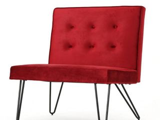 Darrow Modern Velvet Armless Chair by Christopher Knight Home  Retail 161 49