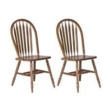 Carolina Crossing Antique Honey Finish Windsor Dining Chair  Set of 2  Retail 214 49