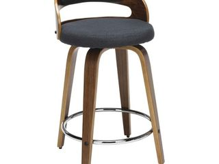 Carson Carrington Uggelhult Bentwood Frame Swivel Seat Stool  Retail 142 99