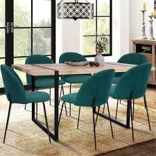 Carson Carrington Idemala Brushed Fabric Dining Chairs  Set of 2  Retail 174 99 teal