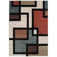 Tecopa Multi Geometric Indoor Outdoor Woven Area Rug  Retail 195 99
