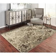 Copper Grove Porvoo Distressed Brown and Beige Area Rug