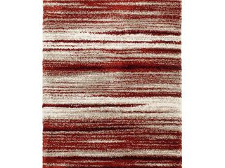 Toronto Red and Cream Woven Area Rug  Retail 171 49