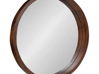 Kate and laurel Hutton Round Wood Wall Mirror   22  diameter   Retail 129 99
