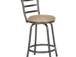 Round Seat Bar  Counter Height Adjustable Metal Bar Stools set of 2