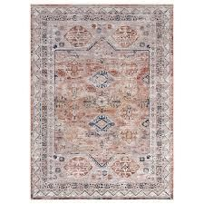 Egainia Natural Rust Blue Area Rug by Greyson living  Retail 126 49