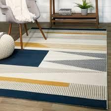 Carson Carrington Islebo Polypropylene Geometric Indoor Area Rug  Retail 76 98