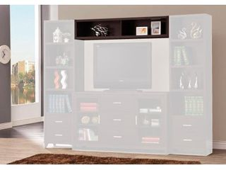 Contemporary Cappuccino Entertainment Unit Bridge   60  x 11 50  x 11 50  Retail 117 49