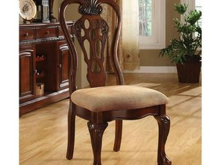 Furniture of America Cherry Dining Chair  Set of 2  Retail 319 49