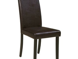 Kimonte Dining Room Chair   Set of 2   Dark Brown  Retail 91 49