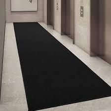 ottohome collection black rug runner set of 2