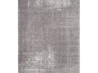 8  x 10  Wanderlust Hand Woven Cotton Chenille Abstract Rug  Retail 336 49