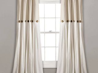 lush Decor linen Button Window Curtain Single Panels