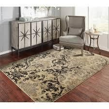 Copper Grove Porvoo Distressed Black and Beige Area Rug  Retail 78 48