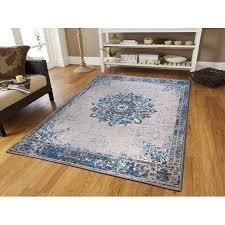Copper Grove Mesnil Distressed Grey Area Rug  Retail 94 99