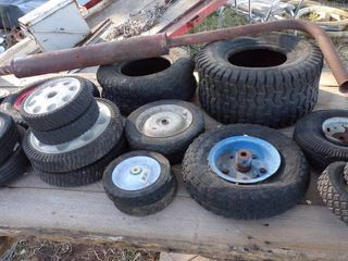 TIRES AND WHEElS FOR lAWNMOWERS ETC