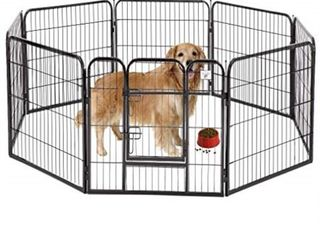 BestPet Heavy Duty Pet Playpen Dog Exercise Pen Cat Fence B  40 Inch  Black