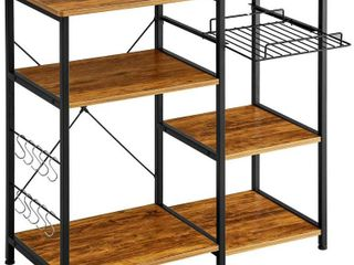 Mr IRONSTONE Kitchen Baker s Rack Vintage Utility Storage Shelf Microwave Stand 3 Tier 3 Tier Table for Spice Rack Organizer Workstation