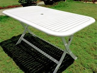 International Caravan Royal Fiji Rectangular Folding Patio Table  Retail 244 49