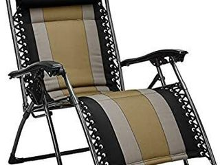 AmazonBasics Padded Zero Gravity Patio Chair   Black