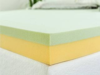 Zinus 4 Inch Green Tea Memory Foam Mattress Topper   Unknown Size