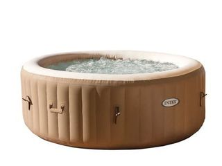 Intex 28425E 77in PureSpa Inflatable Spa  4 Person  Tan
