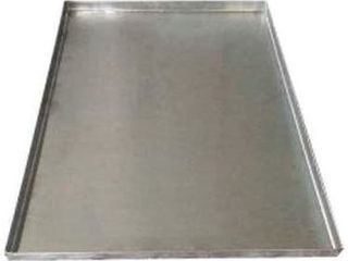 Pinnacle Systems Replacement Tray for Dog Crate IAA Chew Proof and Crack Proof Metal Pan for Dog Crates  Stainless Steel  47  X 29 1 8