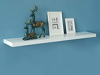 WEllAND New Chicago Floating Shelf  White Floating Wall Shelf ledge Shelf  60 inch  White