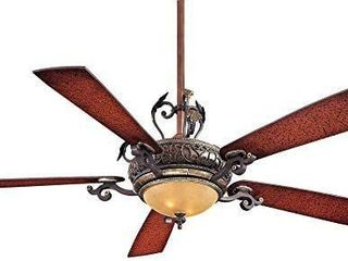 Minka Aire F705 STW Downrod Mount  5 Wood Finish Blades Ceiling fan with 93 watts light  Wood   Missing instructions and might be missing hardware