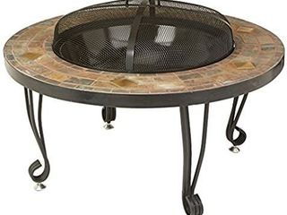 Amazonbasics Natural Stone Fire Pit With Copper Accents  86 Cm
