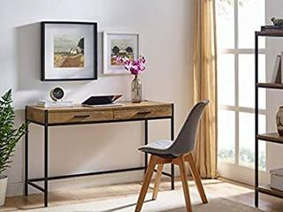 Aaron Furniture Designs Modern Writing Computer Desk Study W  2 Drawers Bedroom
