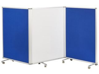 ECR4Kids Mobile Dry Erase Flannel 3 Panel Room Divider  Missing 3 SETS Of CASTERS